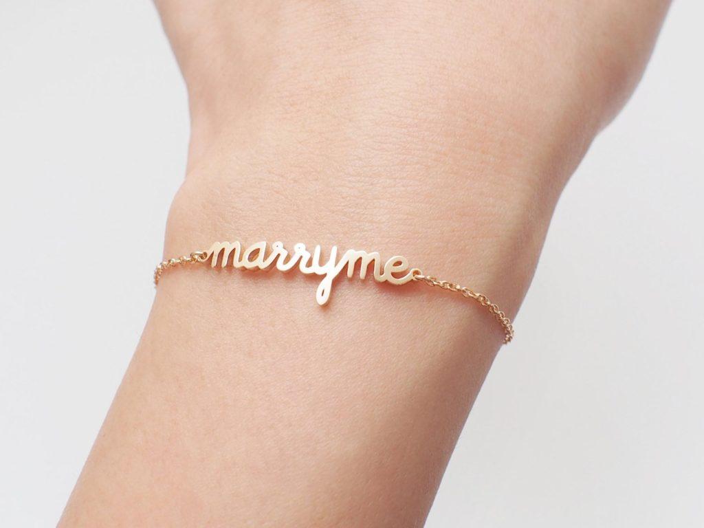 """Bracelet """"Marry me"""" dispo sur Etsy"""