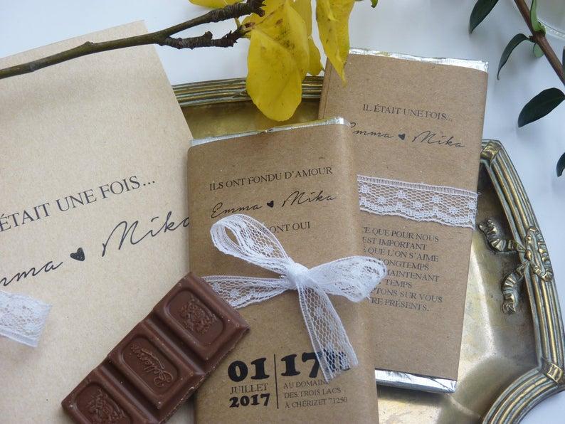 Tablette de chocolat Save the Date