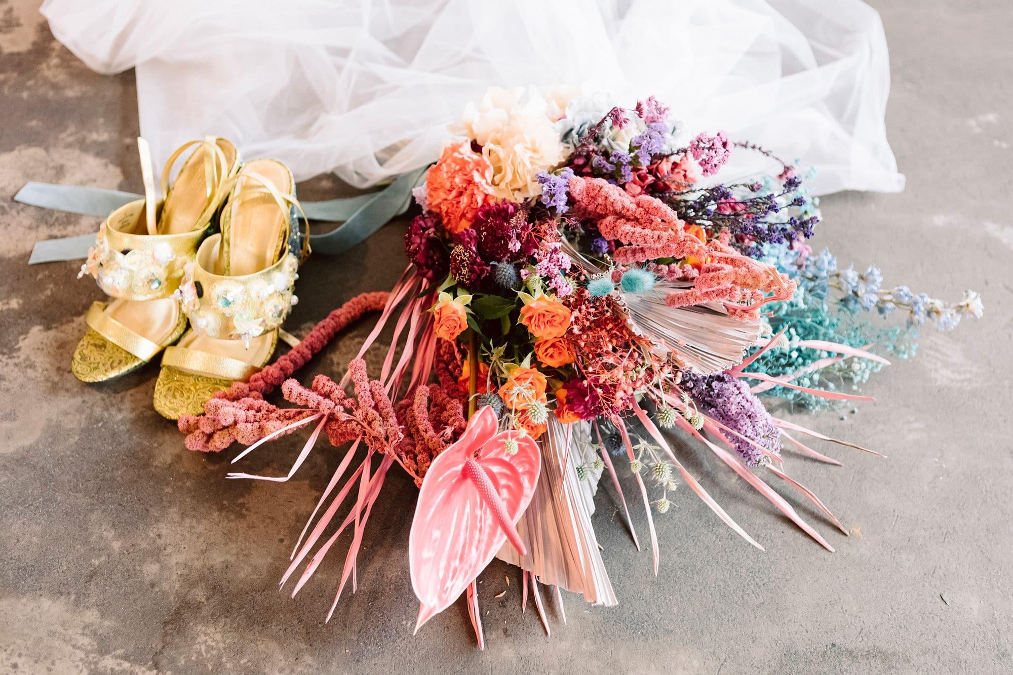 Bouquet mariée coloré