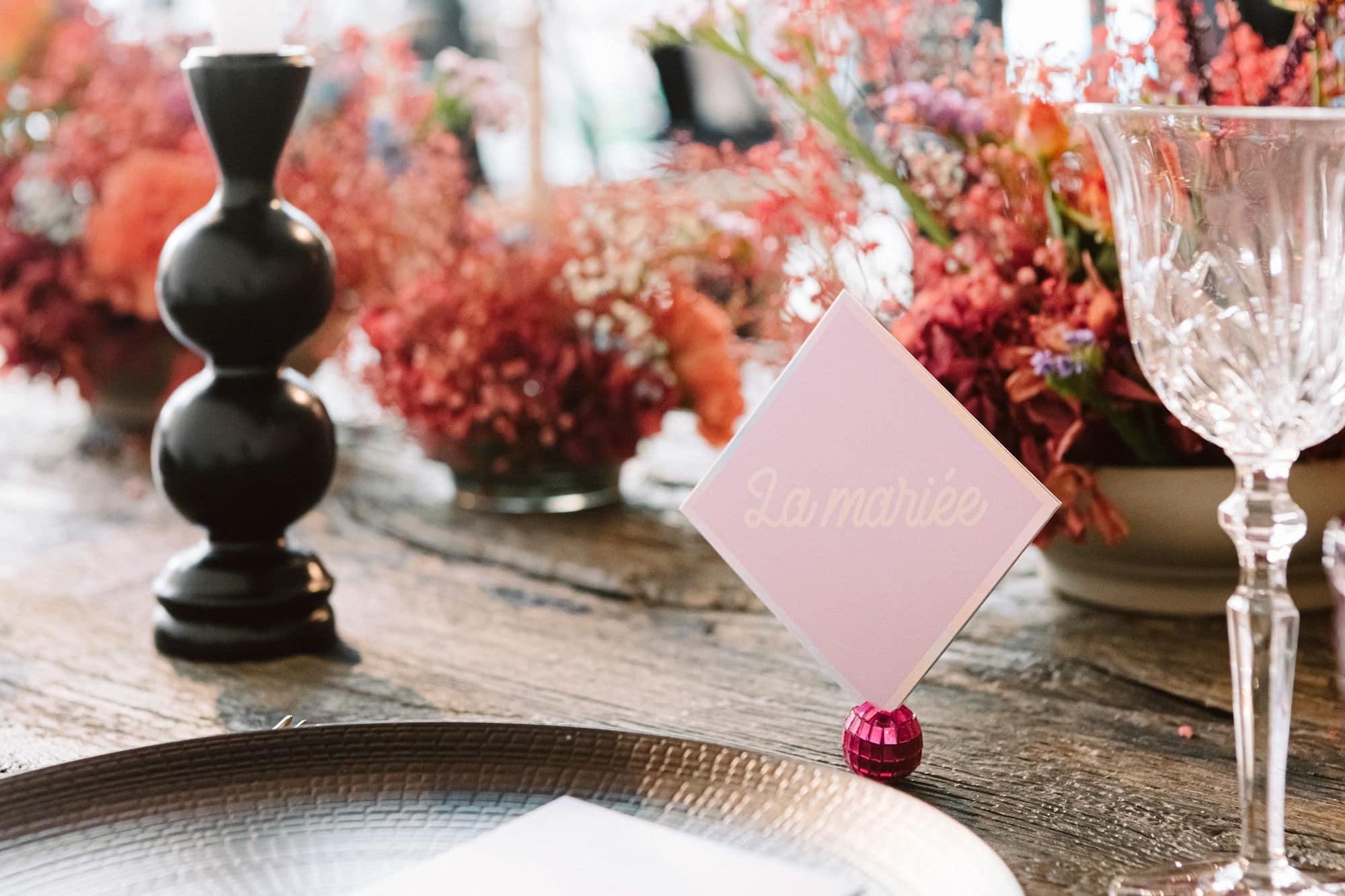 Table mariage bohème