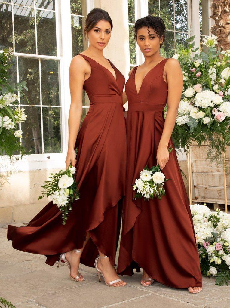 Demoiselles d'honneur couleur terra cotta