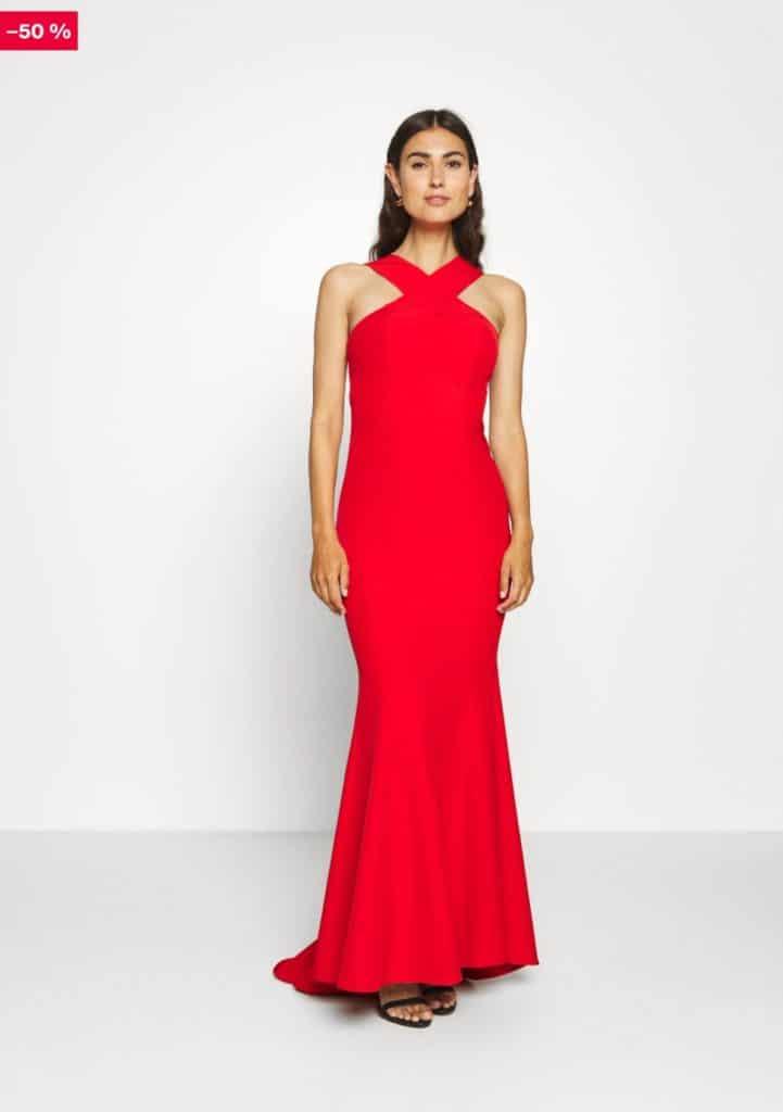 Robe demoiselle d'honneur rouge