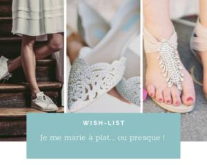 Chaussures de mariage: La mariée Chic et sans Talon.