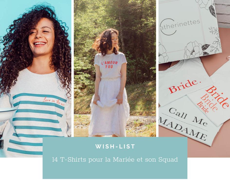 Read more about the article 14 T-shirts pour un EVJF ou pour votre Mariage
