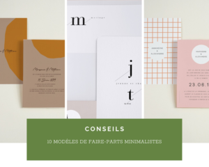 Invitations de mariage : 10 Faire-parts Minimalistes