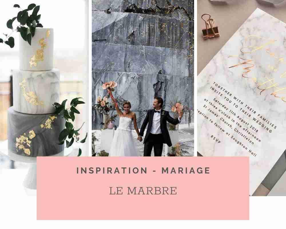 Thème de mariage Chic: Le Marbre – Idées et inspirations