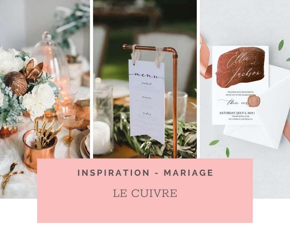 Idées et Inspirations: Le cuivre pour un mariage Bohème