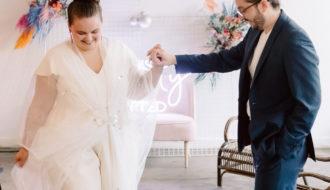 Couple Mariés dansant