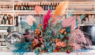Composition florale colorée