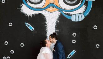 Photo originale mariage Street Art