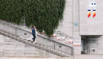 Couple mariage urbain