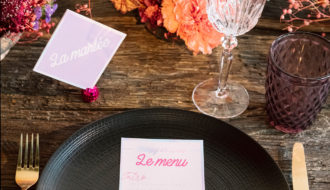 Table mariage disco urbain