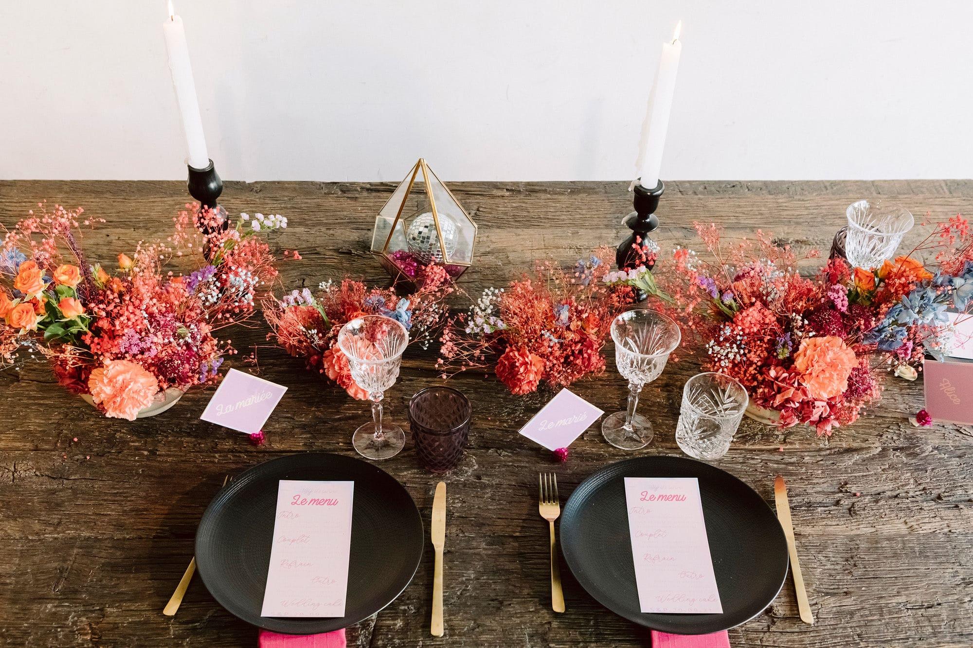 Mariage Disco Bohème Table