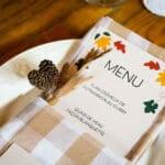 Menu de mariage d'automne - galerie photo