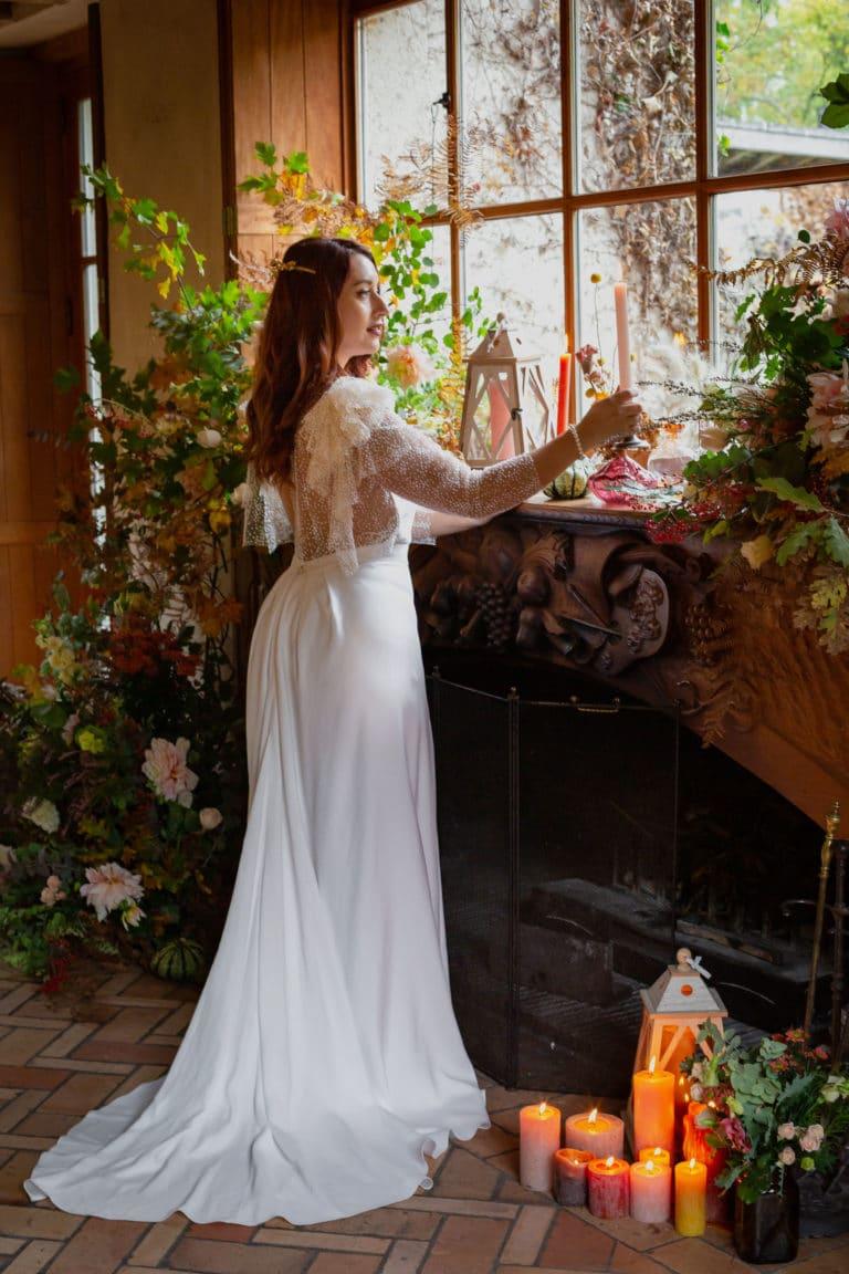 Mariée - paillettes et chantilly