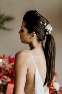 queue de cheval coiffure mariage