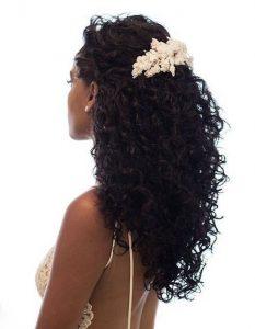 Cheveux détachés coiffure mariage