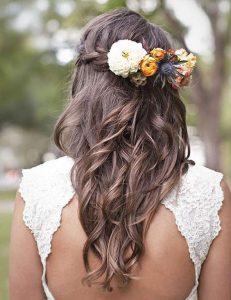 Peigne floral coiffure mariage