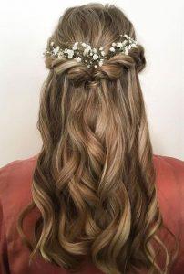 Demi attache coiffure mariage