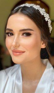 Maquillage mariée yeux marron
